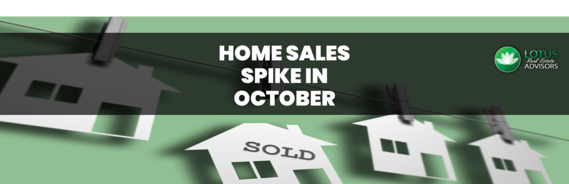 Home Sales Spiked