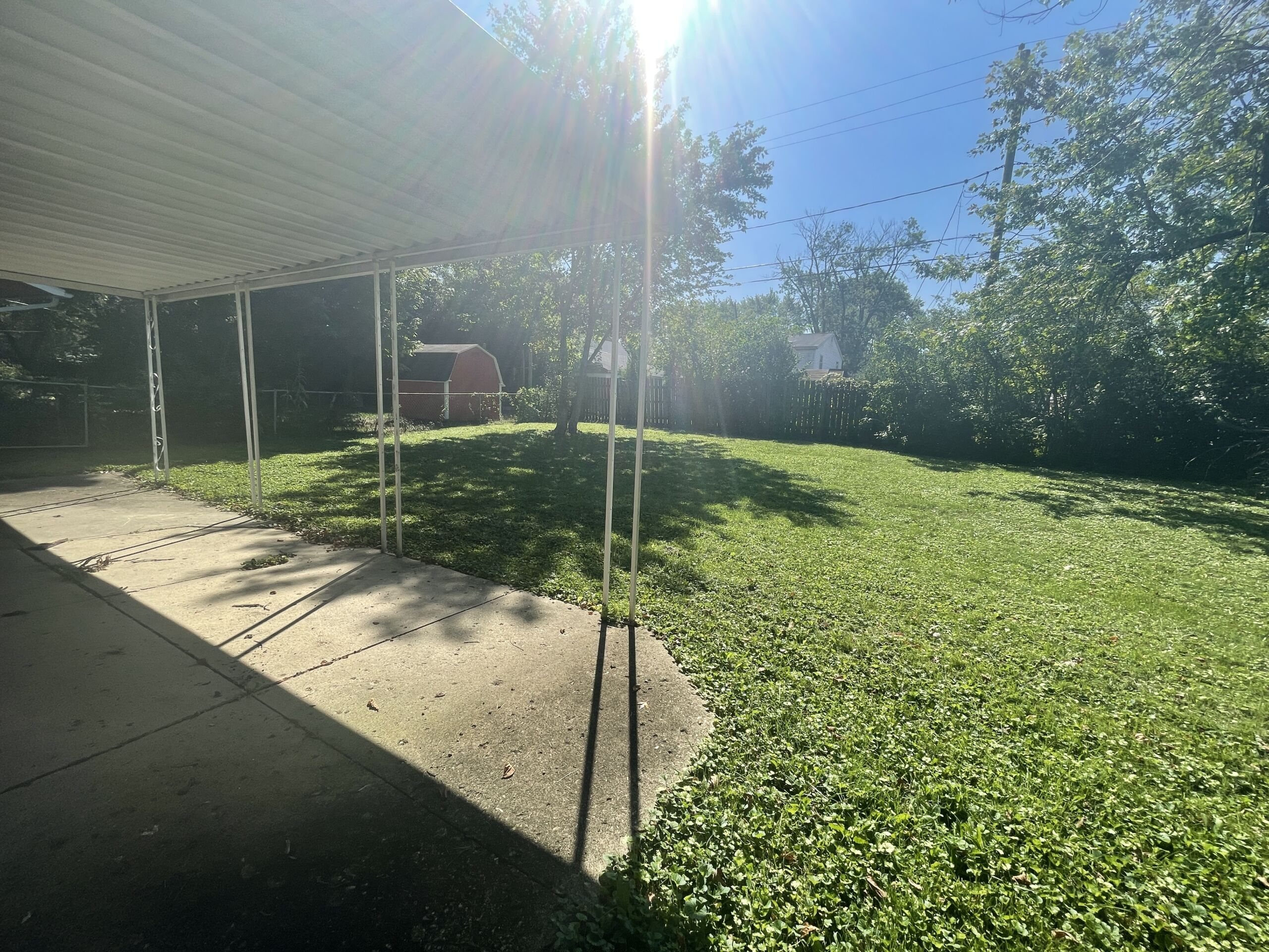 Ranch style house with Fenced in Backyard